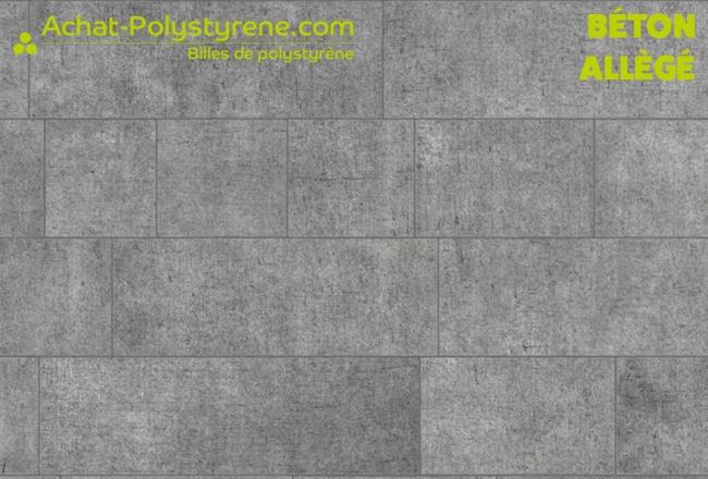 Billes de polystyrène recyclé pour béton