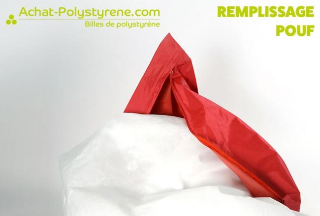 Billes de polystyrène recyclé pour pouf